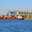 Cargo sea port in Sevastopol, Crimea — Stock Photo #30422787