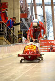 Viessmann Bobsleigh and Skeleton World Cup on February 16, 2013 in Sochi, Russia. — Stock Photo