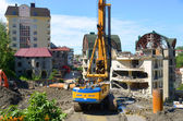 Demolition of illegally constructed building in Sochi, Russia — Stock Photo