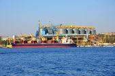 Cargo sea port in Sevastopol, Crimea — Stock Photo