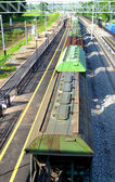 Freight train (top view), Russia — Stock Photo