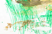 Abstract green watercolor hand painted background — ストック写真