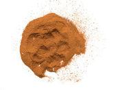 Cinnamon powder on a white background — Stock Photo