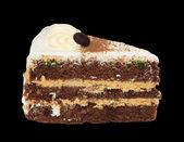 黒い背景にケーキ — ストック写真