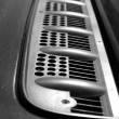 Grille on the hood of car — Stock Photo