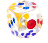Dice on a white background. macro — Stockfoto