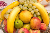 Vegetables and fruits on the table — Stock Photo