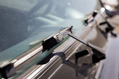 Wipers on car windows — Stock Photo