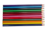Colorful pencils on white background — Stock Photo