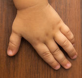 Hand of a child — Stock Photo