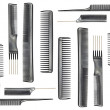 Collection of combs — Stock Photo #16213659