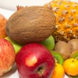Vegetables and fruit on white background — Stok Fotoğraf #17363525
