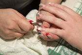 Manicure in beauty salon — Stok fotoğraf