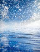 Nuages avec reflet sur l'eau — Photo