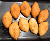 Cakes fried in a pan — Stok fotoğraf