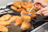 Cakes fried in a pan — Stock Photo