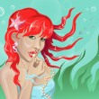 Stock vektor: Mermaid with pearls