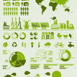 Stock Vector: Green ecology info graphics