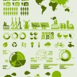 Green ecology info graphics - Image vectorielle