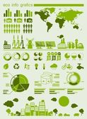 Green ecology info graphics — Vecteur