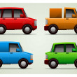 Set of 4 vector cars — Stock Vector