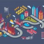 City info graphic — Stock Vector