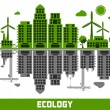 Ecology vs pollution — Stock Vector