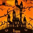 Halloween castle — Stock Vector #13692107