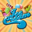 Delicious Ice cream — Vector de stock #13692120