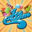 Delicious Ice cream — Vector de stock