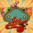 Colorful ice cream background — Cтоковый вектор