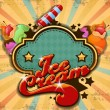 Colorful ice cream background - 