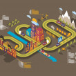 Eco city - Imagen vectorial