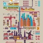 Eology city — Stock Vector