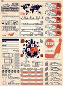 Gráficos de la información del coche — Vector de stock