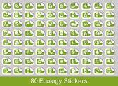 Ekologie sada — Stock vektor