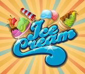 Delicious Ice cream — Stockvector
