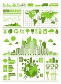 Eco info graphics — Stok Vektör