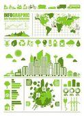 Gráficos de informação eco — Vetorial Stock