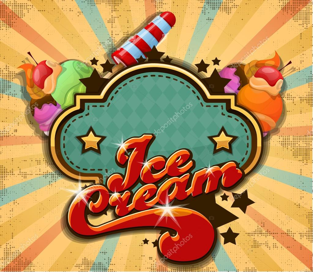 Colorful Ice Cream Background