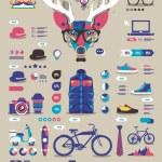 hipster bilgi grafik — Stok Vektör