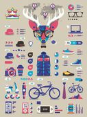 Hipster info graphics — Stock Vector