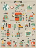 Camping elements, — Stock Vector