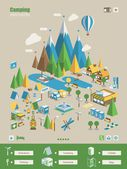 Camping background — Stock Vector
