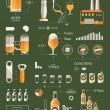 Stock Vector: Beer info graphic