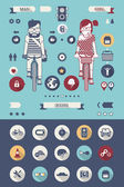 Bike icons — Vecteur