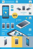 Phone mock up — Stock Vector
