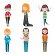 Hipster characters — Stock Vector #41225163