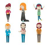Hipster characters — Stock Vector