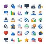 Social media icons set — Stock Vector #45293921